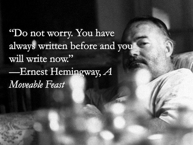 """Our Mom was a great fan of Ernest Hemingway, """"the masterwriter"""""""