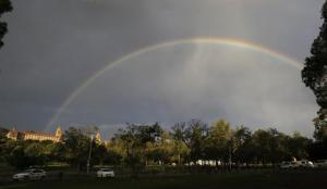 A Mandela Pretoria rainbow 12th Dec